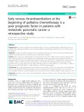 Early venous thromboembolism at the beginning of palliative chemotherapy is a poor prognostic factor in patients with metastatic pancreatic cancer: A retrospective study