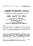 On performance of mobile edge computing network with nonorthogonal multiple access and radio frequency energy harvesting