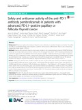 Safety and antitumor activity of the anti–PD-1 antibody pembrolizumab in patients with advanced, PD-L1–positive papillary or follicular thyroid cancer
