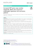 Increased MET gene copy number negatively affects the survival of esophageal squamous cell carcinoma patients