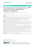 Role of polycyclic aromatic hydrocarbons as a co-factor in human papillomavirusmediated carcinogenesis