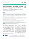 Integrating germline and somatic variation information using genomic data for the discovery of biomarkers in prostate cancer