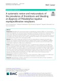 A systematic review and meta-analysis of the prevalence of thrombosis and bleeding at diagnosis of Philadelphia-negative myeloproliferative neoplasms