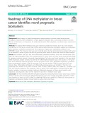 Roadmap of DNA methylation in breast cancer identifies novel prognostic biomarkers