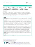 Impact of age at diagnosis of head and neck cancer on incidence of metachronous cancer