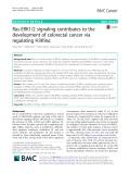 Ras-ERK1/2 signaling contributes to the development of colorectal cancer via regulating H3K9ac