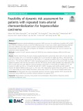 Feasibility of dynamic risk assessment for patients with repeated trans-arterial chemoembolization for hepatocellular carcinoma