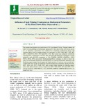 Influence of seed priming treatments on biochemical parameters of dry direct sown rice (Oryza sativa L.)