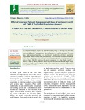 Effect of integrated nutrient management and dates of sowing on growth and yield of Pearlmillet (Pennisetum glaucum)