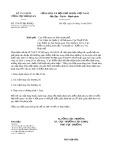 Công văn số 3376/TCHQ-KĐHQ