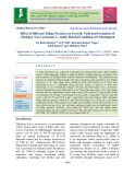 Effect of different tillage practices on growth, yield and economics of chickpea (Cicer arietinum L.) under rainfed condition of Chhattisgarh