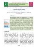A study on malignant melanoma