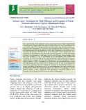 Advance agro- techniques for yield efficiency and economics of potato (Solanum tuberosum) crop for Chhattisgarh plains