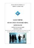 Giáo trình Phân tích hoạt động kinh doanh - Nghề: Kế toán doanh nghiệp - CĐ Kỹ Thuật Công Nghệ Bà Rịa-Vũng Tàu
