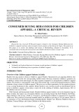 Consumer buying behaviour for children apparel: a critical review