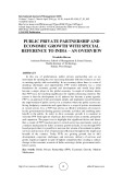 Public private partnership and economic growth with special reference to India – an overview