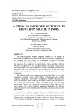 A study on employee retention in education sector in India