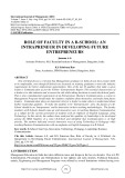 Role of faculty in a b-school: an intrapreneur in developing future entrepreneurs