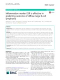 Inflammation marker ESR is effective in predicting outcome of diffuse large B-cell lymphoma