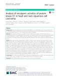 Analysis of oncogenic activities of protein kinase D1 in head and neck squamous cell carcinoma