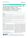 The efficacy and safety of anti-CD19/CD20 chimeric antigen receptor- T cells immunotherapy in relapsed or refractory B-cell malignancies: A meta-analysis