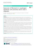 Expression of fibronectin in esophageal squamous cell carcinoma and its role in migration