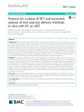 Protocol for a phase III RCT and economic analysis of two exercise delivery methods in men with PC on ADT