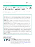 Amplification of KRAS and its heterogeneity in non-Asian gastric adenocarcinomas