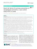 Novel risk factors for primary prevention of oesophageal carcinoma: A case-control study from Sri Lanka