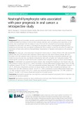 Neutrophil-lymphocyte ratio associated with poor prognosis in oral cancer: A retrospective study