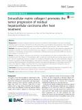 Extracellular matrix collagen I promotes the tumor progression of residual hepatocellular carcinoma after heat treatment