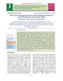 Effect of weed management practices and establishment methods on growth, productivity and economics of rice