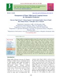 Management of finger millet based cropping systems for sustainable production