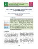 Effect of temperature on growth and sporulation of rice leaf blast pathogen Magnaporthe oryzae