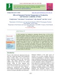 Effect of integrated nutrient management on productivity and nutrients availability of potato