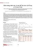 Khả năng sinh sản và ưu thế lai của vịt bố mẹ (CT12xCT34)