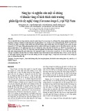 Sàng lọc và nghiên cứu một số chủng vi khuẩn vùng rễ kích thích sinh trưởng phân lập từ cây nghệ vàng (Curcuma longa L.) tại Việt Nam