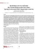 Hoạt tính kháng oxy hóa của cao chiết ethanol thân rễ Ngải tím (Kaempferia parviflora Wall. Ex Baker), Ngải trắng (Curcuma aromatica Salisb.), Gừng gió (Zingiber zerumbet Sm.)