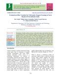 Evaluation of rice varieties for yield under organic farming in Tarai region of Uttarakhand, India