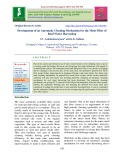 Development of an automatic cleaning mechanism for the mesh filter of roof water harvesting
