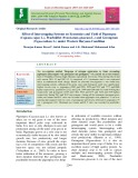 Effect of intercropping systems on economics and yield of pigeonpea (Cajanus cajan L.), Pearlmillet (Pennisetum glaucum L.) and Greengram (Vigna radiata L.) under Western Haryana condition