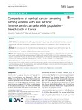 Comparison of cervical cancer screening among women with and without hysterectomies: A nationwide populationbased study in Korea