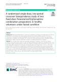 A randomized single-dose, two-period crossover bioequivalence study of two fixed-dose Paracetamol/Orphenadrine combination preparations in healthy volunteers under fasted condition