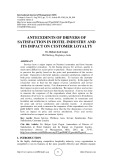 Antecedents of drivers of satisfaction in hotel industry and its impact on customer loyalty