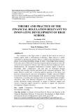 Theory and practice of the financial regulation relevant to innovative development of high school