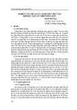 Nghiên cứu lỗi sai của sinh viên Việt Nam khi học tập câu ghép tiếng Hán
