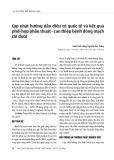 Chuyên đề khoa học: Cập nhật hướng dẫn điều trị quốc tế và kết quả phối hợp phẫu thuật - can thiệp bệnh động mạch chi dưới