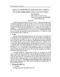 Khảo sát ảnh hưởng của kim loại nặng cadmium lên sự phát triển phôi cá ngựa vằn (Danio rerio)