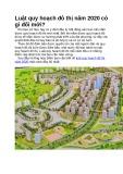 Luật quy hoạch đô thị năm 2020 có gì đổi mới
