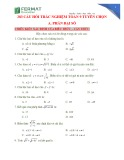 283 câu hỏi trắc nghiệm Toán 9 tuyển chọn